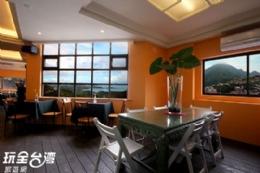 九份 美好時光民宿-舒適的觀景用餐區