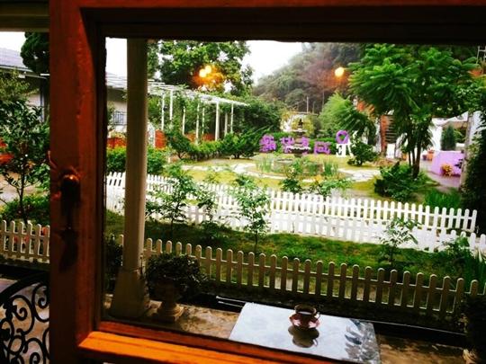 下午茶花園角落