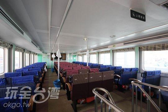 蘭嶼綠島船票‧金星客輪座艙